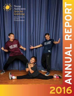 Cover of Young Audiences New Jersey and Eastern Pennsylvania FY16 Annual Report