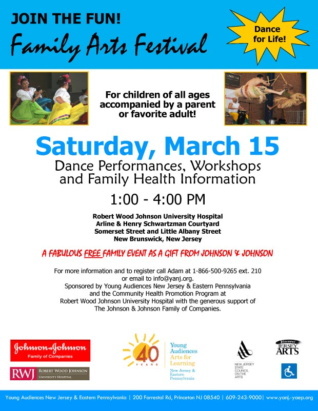 Family Arts Festival Flyer 2014
