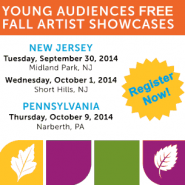 Young Audiences Fall Showcase Registration ad
