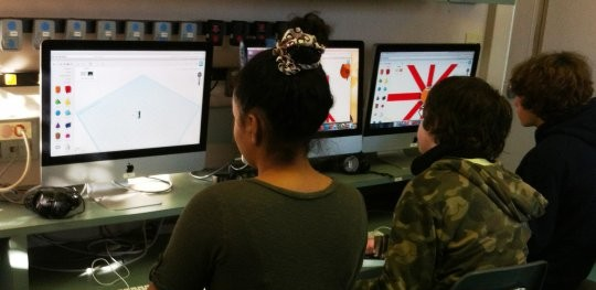 Montclair Cooperative Students working on their design projects