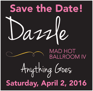 Dazzle 2016 - Save the Date - April 2, 2016