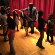 Maestro Flaco teaching ballroom dance to MLK Students