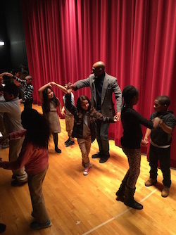 Maestro Flaco teaching ballroom dance to MLK Students[1]