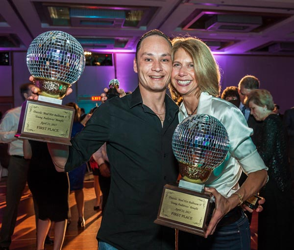 Michele Siekerka and lya Abdullin-YA Disco Ball Trophy Winners