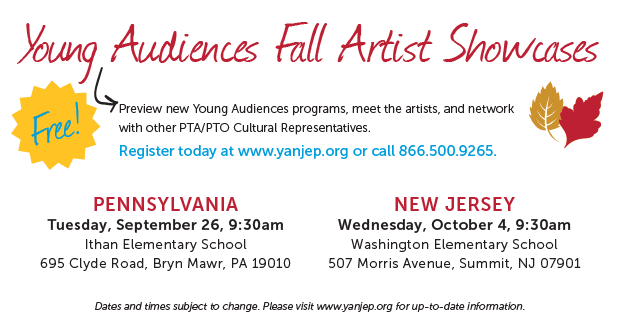Young Audiences' Fall Artist Showcase 2017