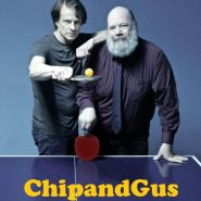 ChipandGus Promo shot at ping pong table with title