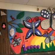 A mural created by students and artist Marilyn Keating at Grace Norton Rogers Elementary School in Hightstown, NJ